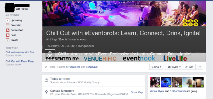 EventNook Chill Our FB Page