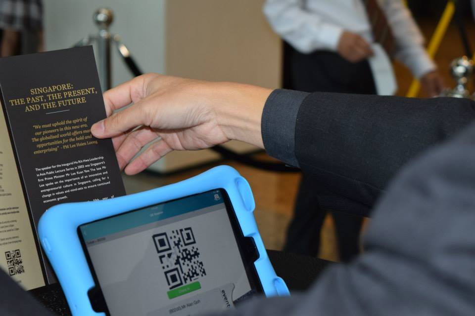 EventNook's QR code onsite check in