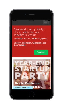 EventNook - mobile friendly event registration and ticketing site