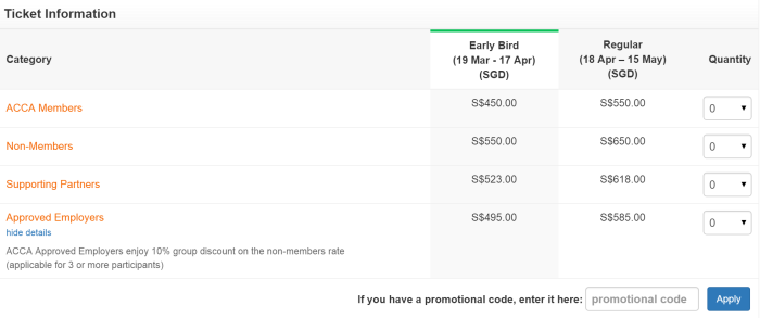 Eventnook Ticketing - Tier Ticket Pricing
