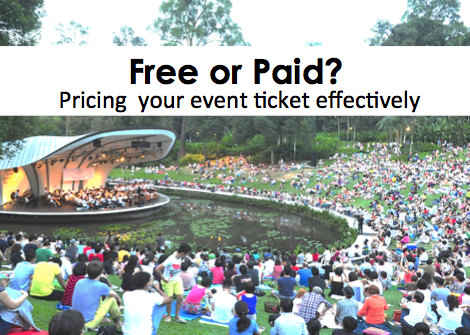 Free or paid? Pricing your event ticket effectively