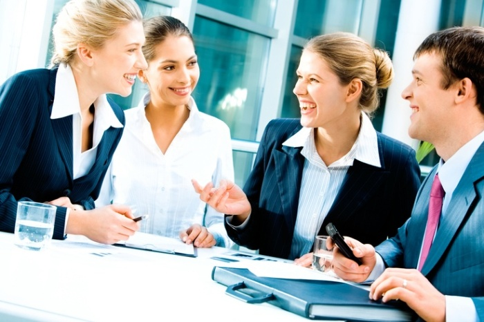 event planning personality, business meeting happy discussion