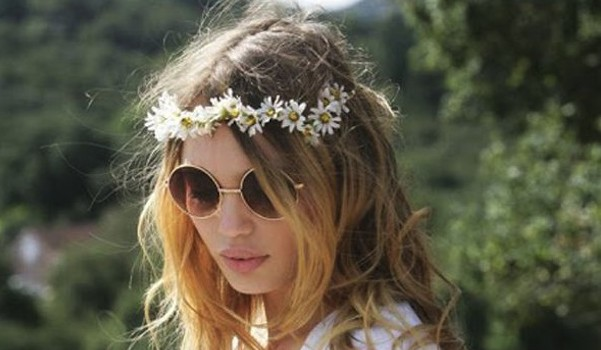 flower crown, hipster, music festival