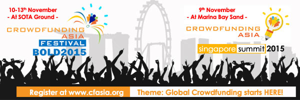 eventnook Crowdfunding Asia Festival Singapore Summit Phoenixict BOLD 2015