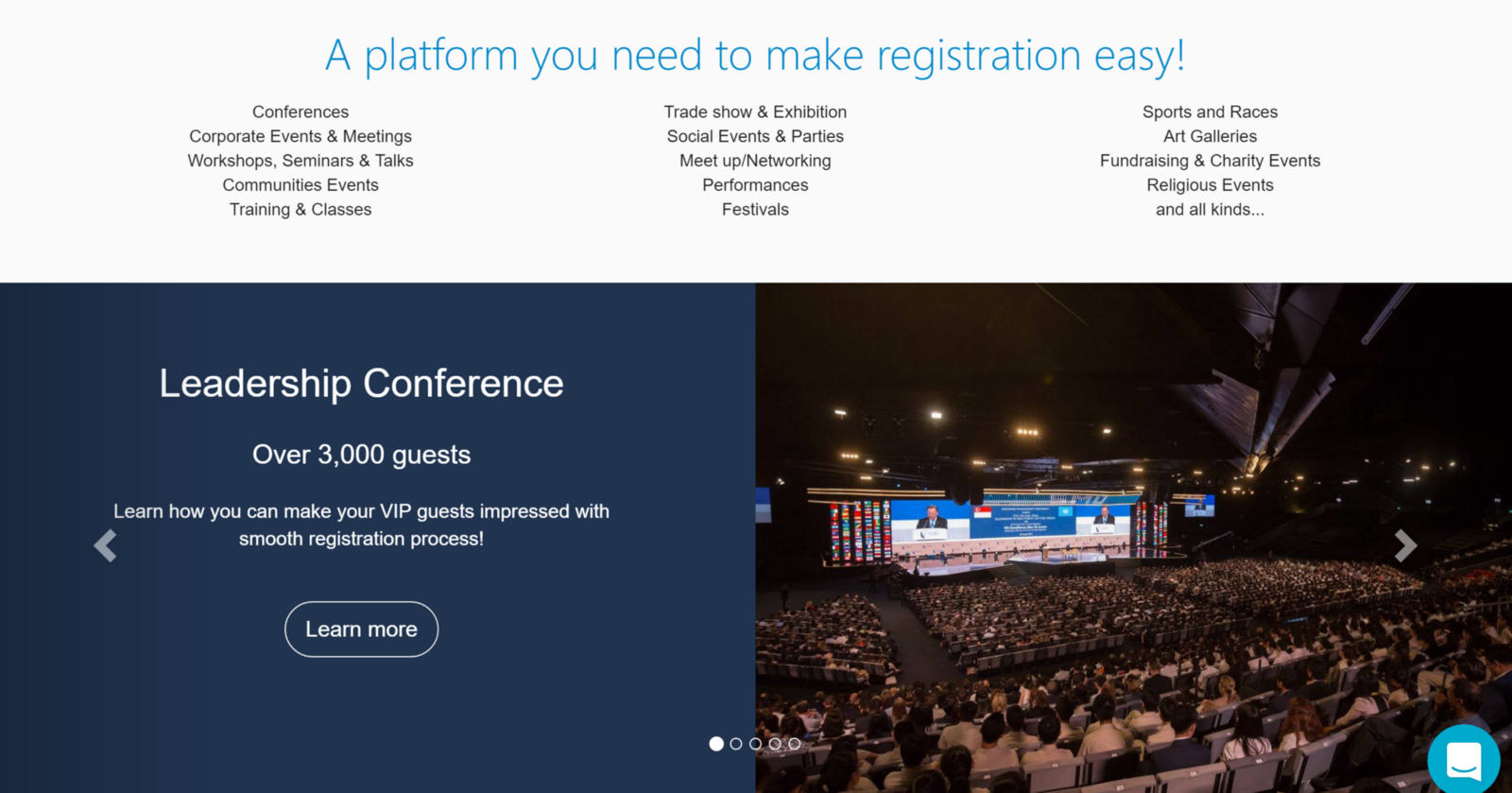 example of some of eventnook featured events and case studies